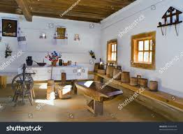 Home Articles by Ukrainian Historical Peasant Dwelling Interior Various Stock Photo