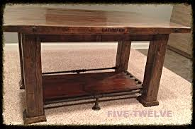 Reclaimed Wood Bar Table Five Twelve Woodworking Factory Carts Illinois Industrial Furniture