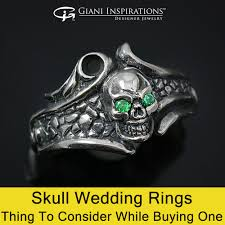 skull wedding rings wedding rings thing to consider while buying one