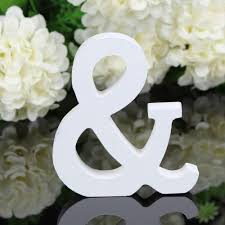 a to z wood letter alphabet word free standing wedding party home
