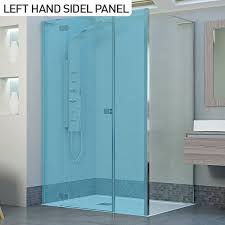 moods reflexion 8 1100 frameless hinged shower door with inline