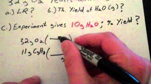 limiting reagent and percent yield youtube