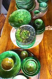 vaisselle en terre cuite tamgroute assiette vaisselle handmade artisanal maroc plate