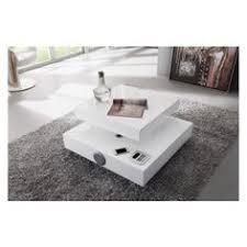 table basse carrée à plateau pivotant blanc laqué table basse du