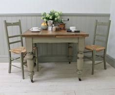Love The Distressed Turquoise Camille Kitchen Dining Table - Distressed kitchen tables