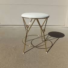 elena vanity stool vintage vanity stool hollywood regency vanity chair gold metal
