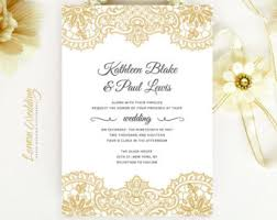vintage lace wedding invitations lace invitations etsy