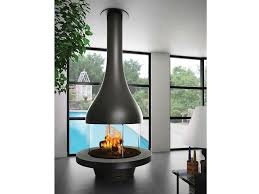 fabulous modern black center fireplace feat glass cover burner