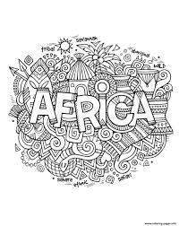 africa abstract symbols coloring pages printable