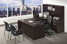 U Shaped Desks With Hutch Ndi Office Furniture Classic Series U Shaped Desk W Hutch Pl18