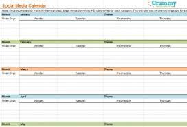 social media calendar excel calendar monthly printable