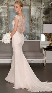 sheer sleeve wedding dresses picture of blush mermaid wedding dress with an illusion back and