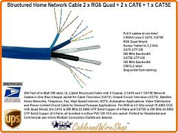 structured wiring home network cable 2 x rg6 quad 2 x cat6 cat5e