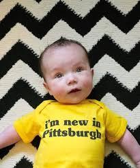 i u0027m new in pittsburgh onesie steel city cute babies gifts