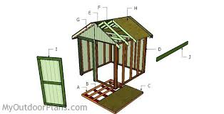 How To Build A Wood Shed Plans by How To Build A 8x8 Shed Roof Myoutdoorplans Free Woodworking