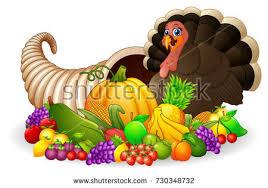 vector illustration thanksgiving horn plenty cornucopia stock