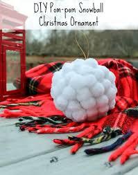 diy pom pom snowball ornament 2016ornamentexchangebh