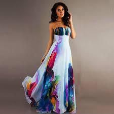 robe women summer dress strapless maxi dress floral