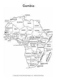 africa map gambia gambia on map of africa