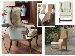 Blue Wingback Chair Design Ideas Blue Color Wingback Dining Chair Home Decorations Insight