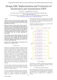 design asic implementation and verification of synchronous and