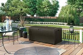 suncast patio storage gallon resin rattan deck box suncast patio