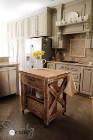 Movable Kitchen Cabinets Kitchen Island Inspired By Pottery Barn Rolling Kitchen Island