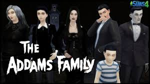 the sims 4 create a sim the addams family youtube