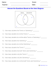 venn diagram worksheets dynamically created venn diagram worksheets