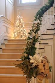 Banister Christmas Garland Exciting Green Christmas Garland Feat White Flower Also White