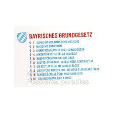bayrische sprüche postkarten bayrisches grundgesetz