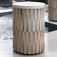 round stone top coffee table outdoor round stone top coffee table mecox gardens home devotee