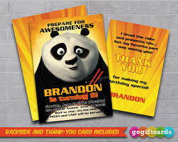 My Birthday Invitation Card Kung Fu Panda Birthday Invitation Cards By Gogiftcards On Deviantart