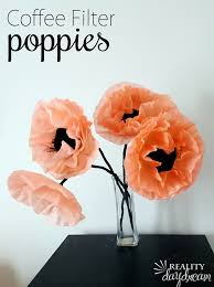 coffee filter poppies reality daydream