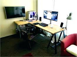 computer desk for 2 monitors computer desk dual monitor dual monitor computer desks dual monitor
