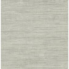 Removable Grasscloth Wallpaper Shop Brewster Wallcovering Brewster Essentials Grey Non Woven