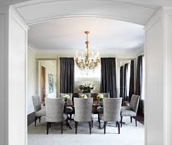 glorious dark gray drapes dining room traditional with white