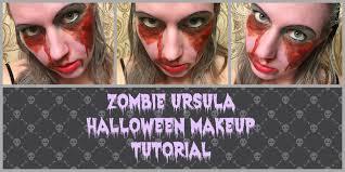 zombie ursula disney villain halloween makeup tutorial youtube