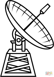 radio telescope coloring page free printable coloring pages