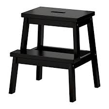 ikea bekvam ikea bekvam wooden utility step stool in black amazon co uk diy