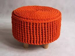 Crochet Ottoman Pufa Ottoman Podnóżek Dziergana Szydełkowana Model By