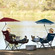 Lawn Chair With Umbrella Attached Amazon Com Sport Brella Recliner Chair Sports U0026 Outdoors