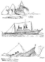 sketches of the titanic sinking 1912 click americana