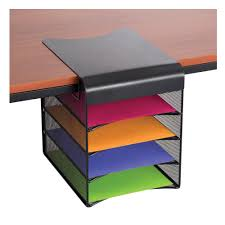 Safco Desk Organizers Onyx Solid Top Horizontal Hanging Storage Safco Products