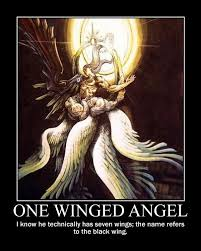 Sephiroth Meme - sephiroth one winged angel by onikage108 on deviantart