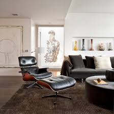 lounge chair for living room eames style lounge chair and ottoman by rove concepts midcentury