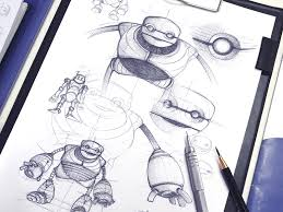 robot mascot sketches by ramotion dribbble