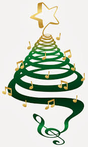 christmas tree music notes christmas lights decoration