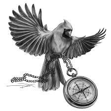 cardinal tattoo design by dendraws on deviantart