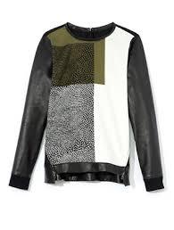 fall 2013 trends mixed media sweatshirts tres cool camo